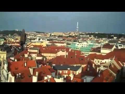 Prague - view from Clock Tower - Tyn Church.avi
