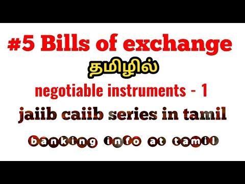 5 Bills Of Exchange Tamil Negotiable Instruments 1 Jaiib Caiib