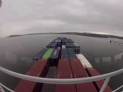 Dana Hollandia leaving Cork Harbour