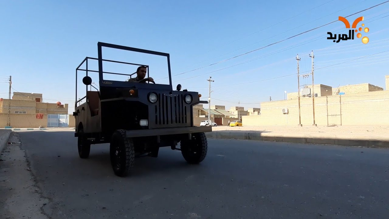 صورة فيديو : مواطن ميساني يصنع سيارة من الخردة #المربد