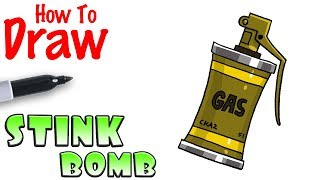 How to Draw the Stink Bomb | Fortnite
