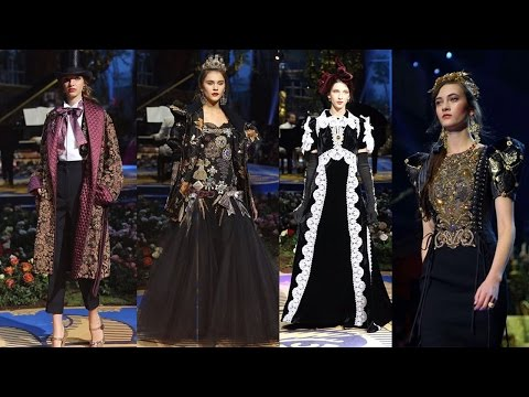 DOLCE AND GABBANA : Inside the Alta Moda Show 2017 in La Scala | Milan, Italy