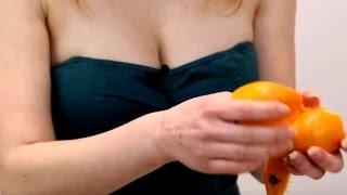 Как научиться целоваться в первый раз на Мандарине Девушки Мотора