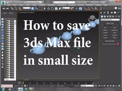 How to save 3ds Max file in small size - YouTube