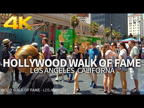LOS ANGELES - Hollywood Walk Of Fame, Downtown Los Angeles, California, USA, Travel, 4K UHD