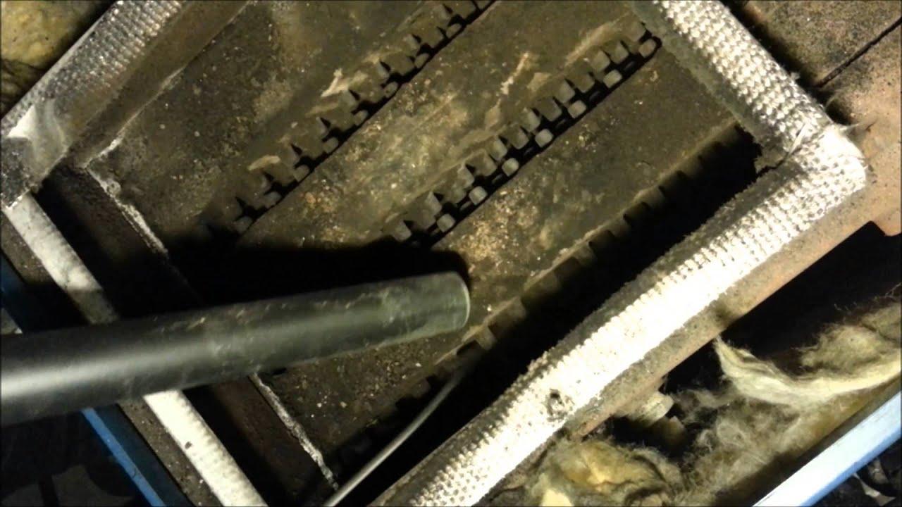 Cleaning Oil Burner - YouTube