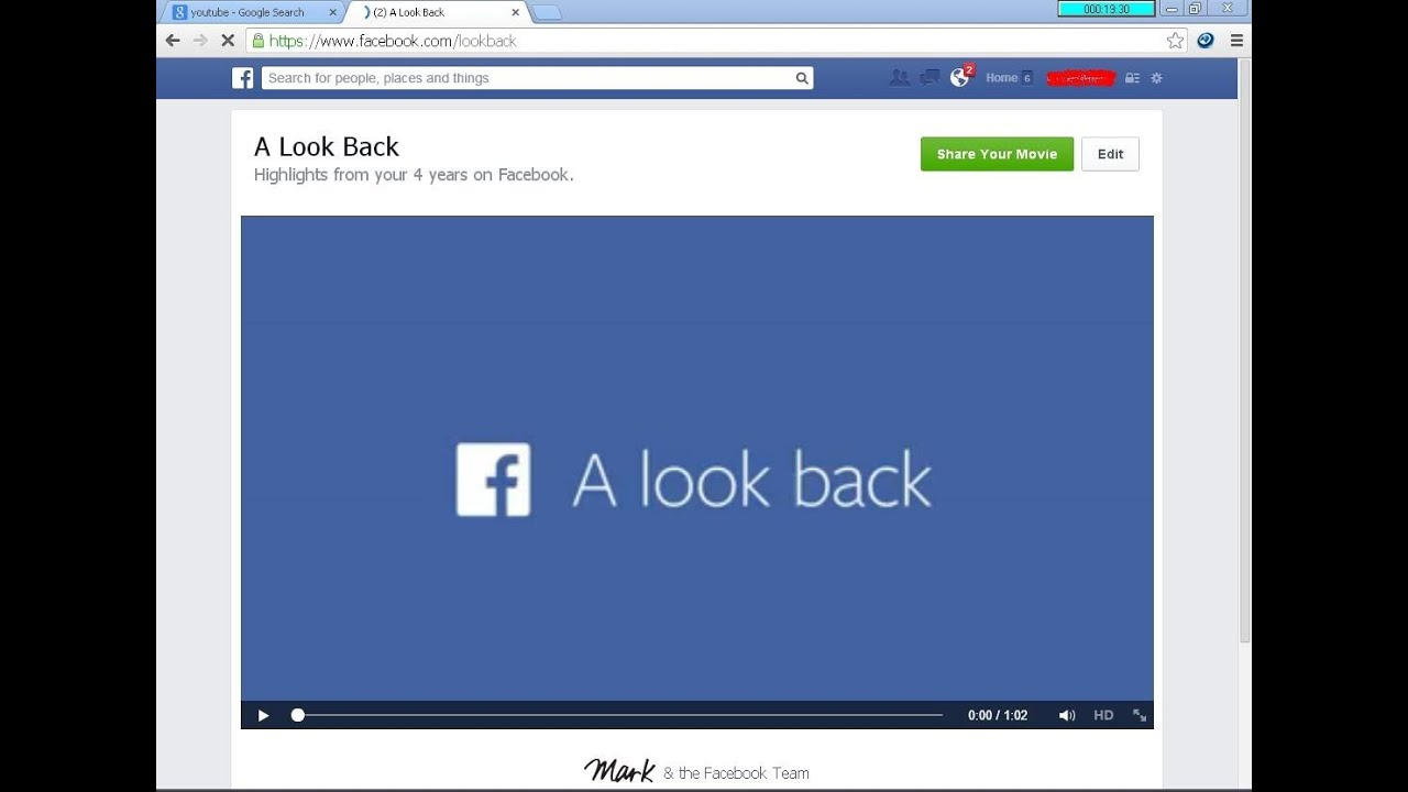 facebook look back - how to create facebook look back video - YouTube