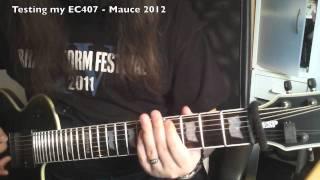 testing esp ltd ec 407 7 string guitar