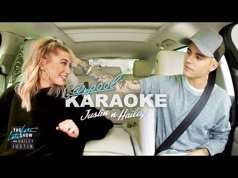 Justin Bieber and Hailey Baldwin Carpool Karaoke