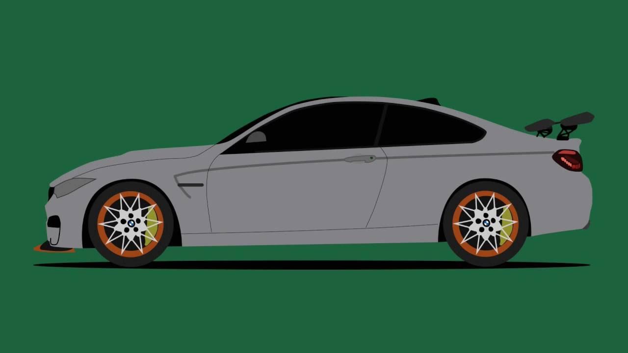 Drawing Bmw M4 Gts In Illustrator