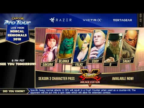 Norcal Regionals 2018 - Day 1 - Capcom Pro Tour 2018