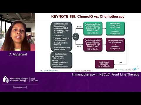 Immunotherapy In Non-Small Cell Lung Cancer (NSCLC): Front Line Therapy