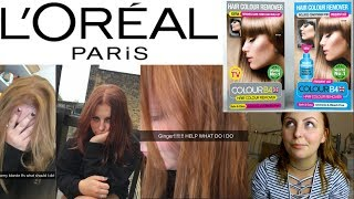 ACCIDENTALLY GINGER - L'Oreal Paris & Colour B4 HAIR DYE *FAIL*