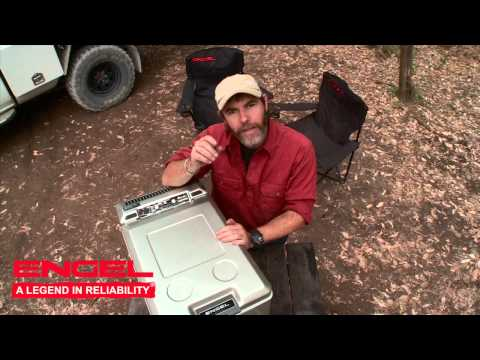 Graham Cahill tests the Engel portable fridge/freezer