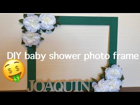 EASY & AFFORDALE DIY BABY SHOWER PHOTO FRAME