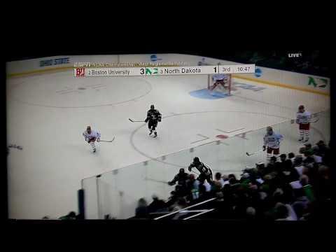 North Dakota vs Boston University NCAA hockey
