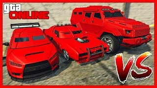 GTA 5 Online: DUKE O'DEATH vs KURUMA vs INSURGENT