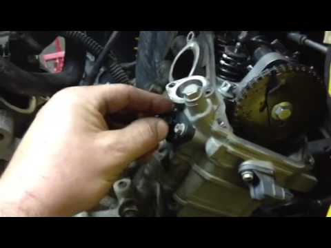 Can-am timing chain tensioner adjustment - YouTube