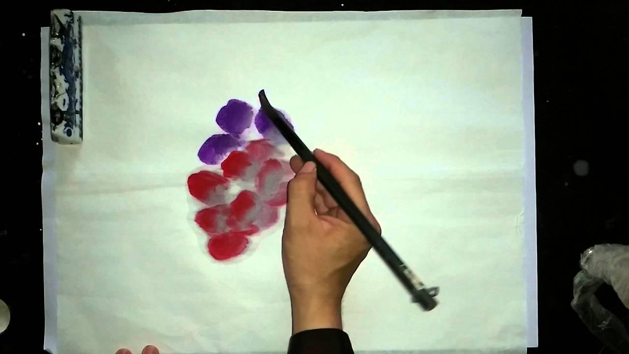 Vẽ hoa mẫu đơn 01_Minh Hoàng Thư Pháp