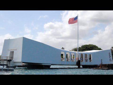 USS Arizona Memorial, Pearl Harbor, Honolulu, Oahu, Hawaii, United States, North America