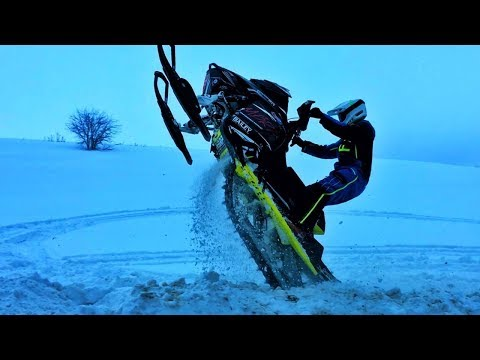 Snowmobile VS DIRT BIKE!