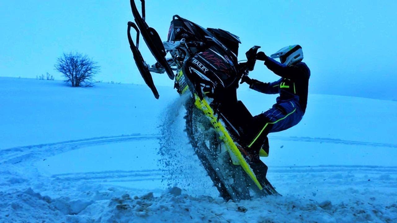 Dirt Bike Snowmobile >> Snowmobile Vs Dirt Bike Mark Freeman 408 Youtube