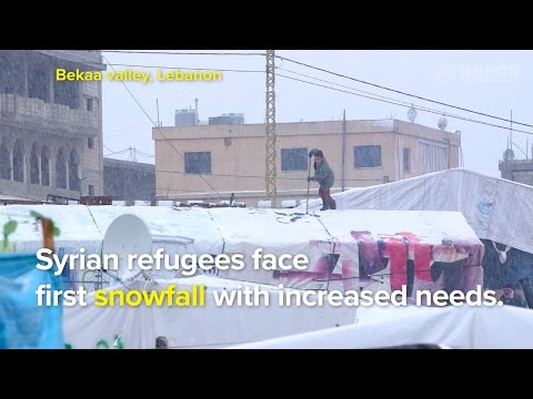 Lebanon: Syrian refugees face first snowfall