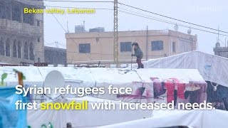 Syrian refugees face first snowfall in Lebanon