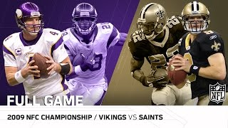 2009 NFC Championship Game: Minnesota Vikings vs. New Orleans Saints | NFL Full Game