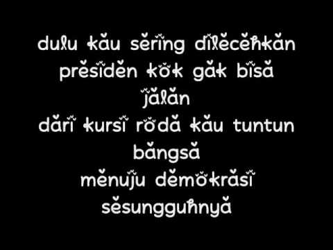 JHF - Gitu Saja Koq Repot Tribute Gusdur lirik