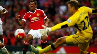 anthony martial first goal for manchester united   united 3 1 liverpool