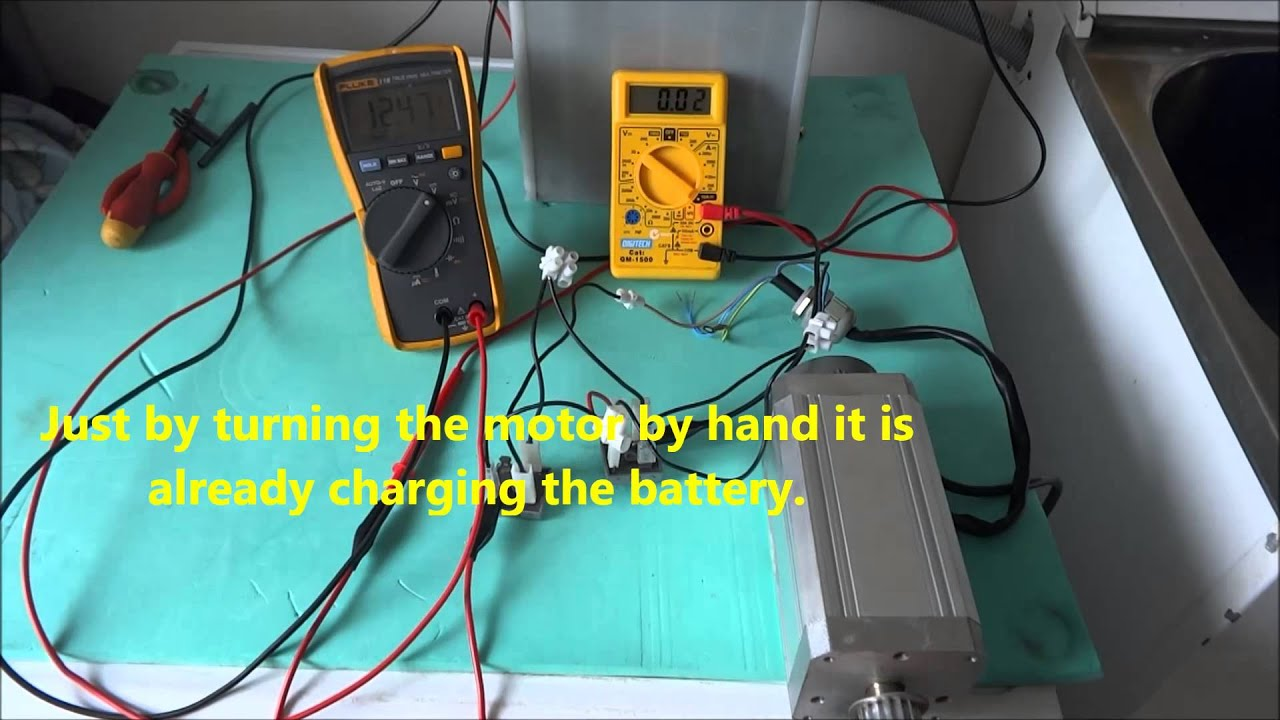 Three Phase Motor Bench Test for Wind Generator - YouTube