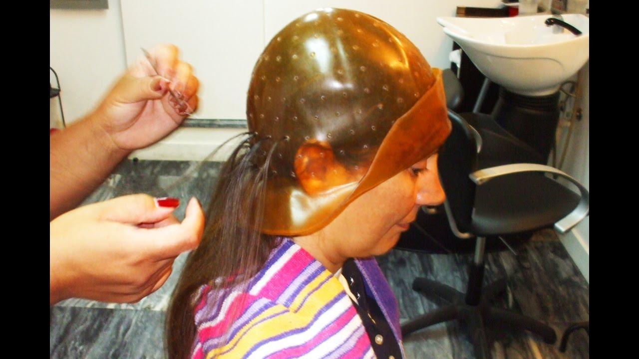 Coloring Long Hair With A Rubber Cap A Vintage Hair Salon