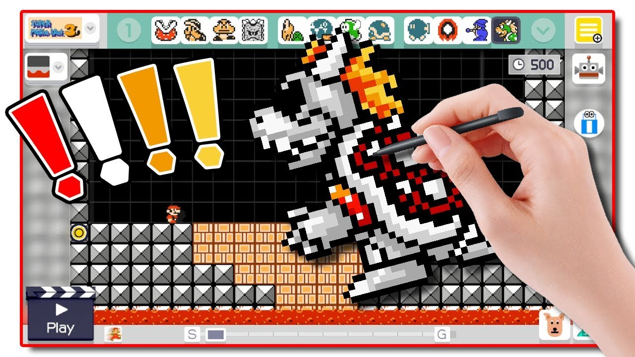 Dry Bowser In Nsmbu Super Mario Maker Mod Btg Youtube