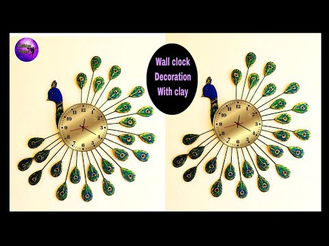 Peacock wall clock |decoration ideas | craft ideas | Best out of waste | Fashion pixies