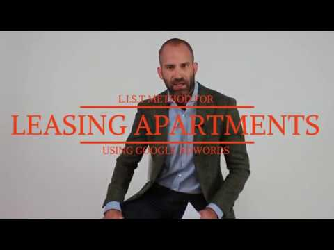 Apartment Marketing: L.I.S.T Method for Leasing Using Google AdWords
