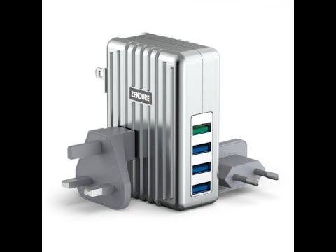 Zendure 40W   4-Port USB High-Speed Wall Charger with One QC 2.0 Port