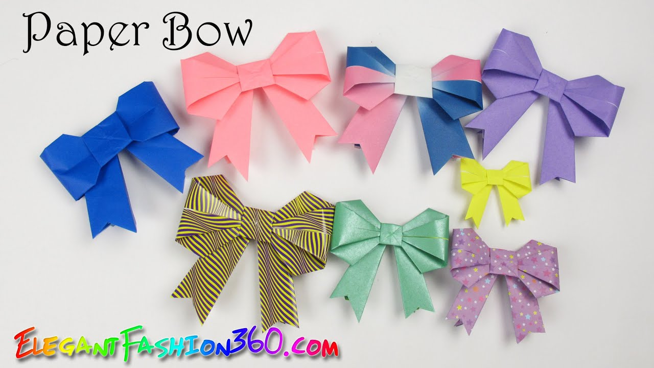 Paper for craft projects - Diy Paper Crafts Bow Ribbon Cute And Easy How To Origami