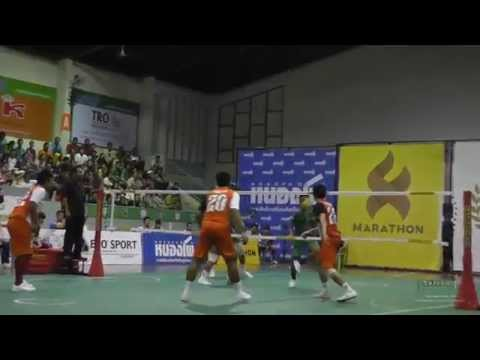 2014 Takraw Thai League - Ratchaburi vs. Phrae Round 17 Highlights