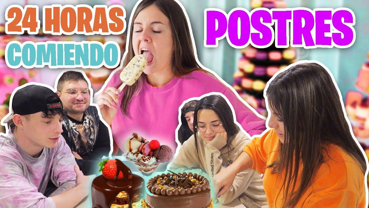 24 HORAS COMIENDO POSTRES | TODO EL DÍA COMIENDO DULCES 🍰 * Gigiis