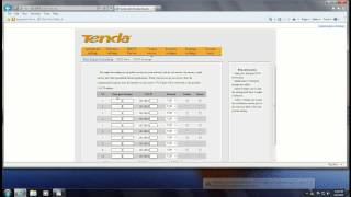 how to set up port forwarding on the tenda w316r router