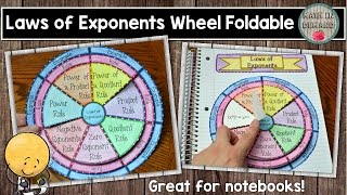 Gambar cover Laws of Exponents Wheel Foldable - Math in Demand