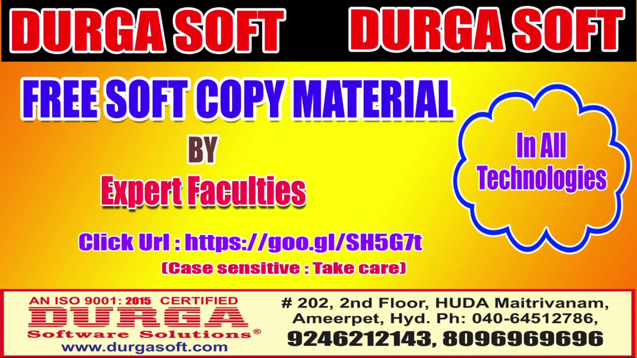 Free soft copy Material by Expert Faculties In All Technologies !!!