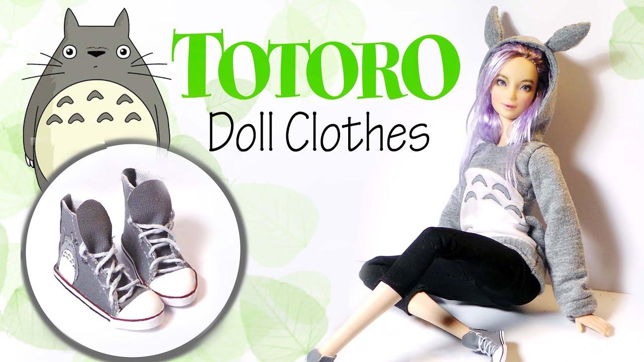 How To Make: TOTORO Hoodie & Sneakers - Doll Shirt & Shoe Tutorial