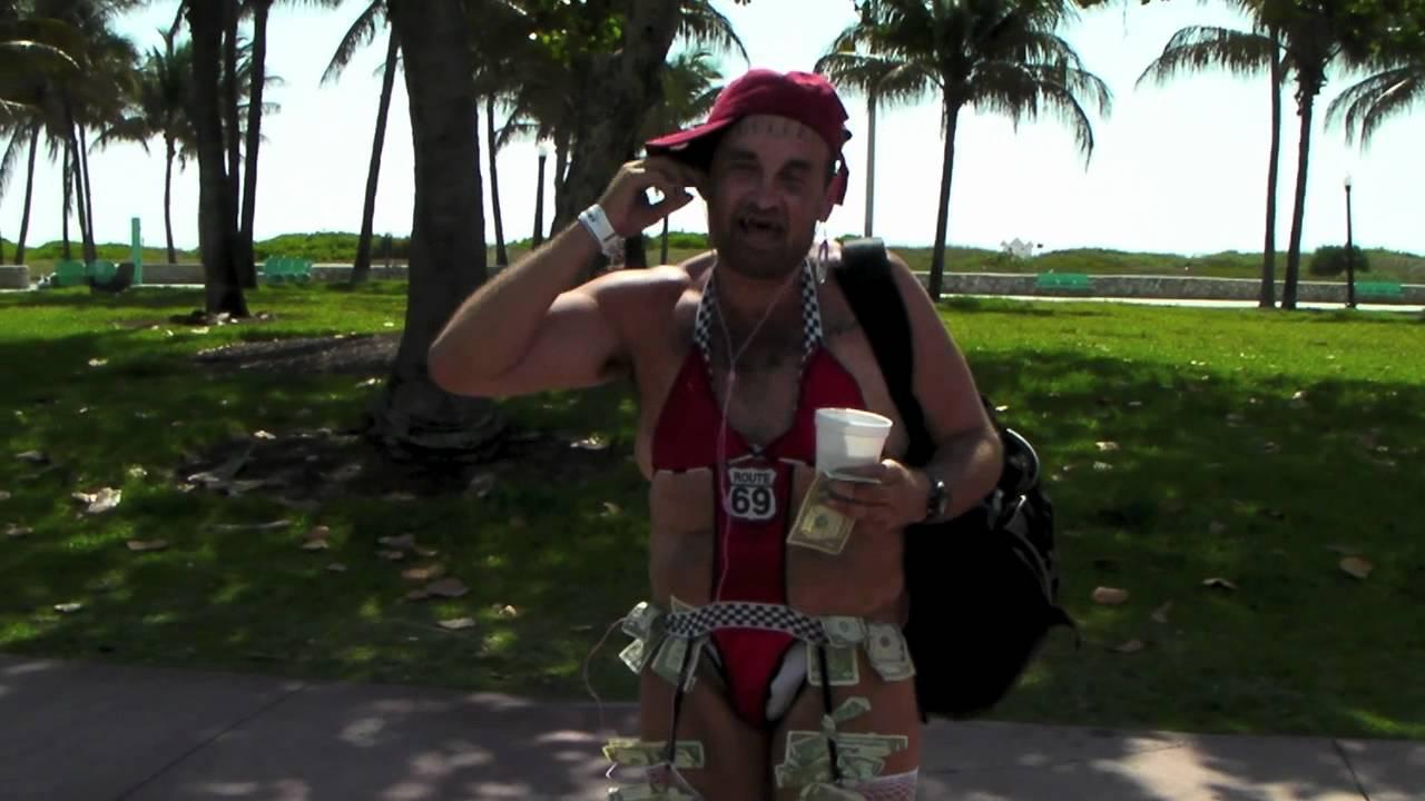 South Beach Miami 2017 Cross Dressing Homeless Freak Mov