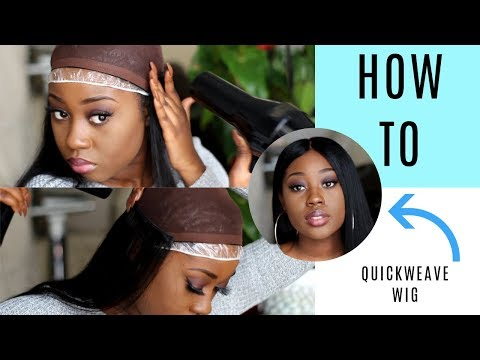 EASY Removable Quickweave wig using only bonding glue! Ft Ali Sugar hair