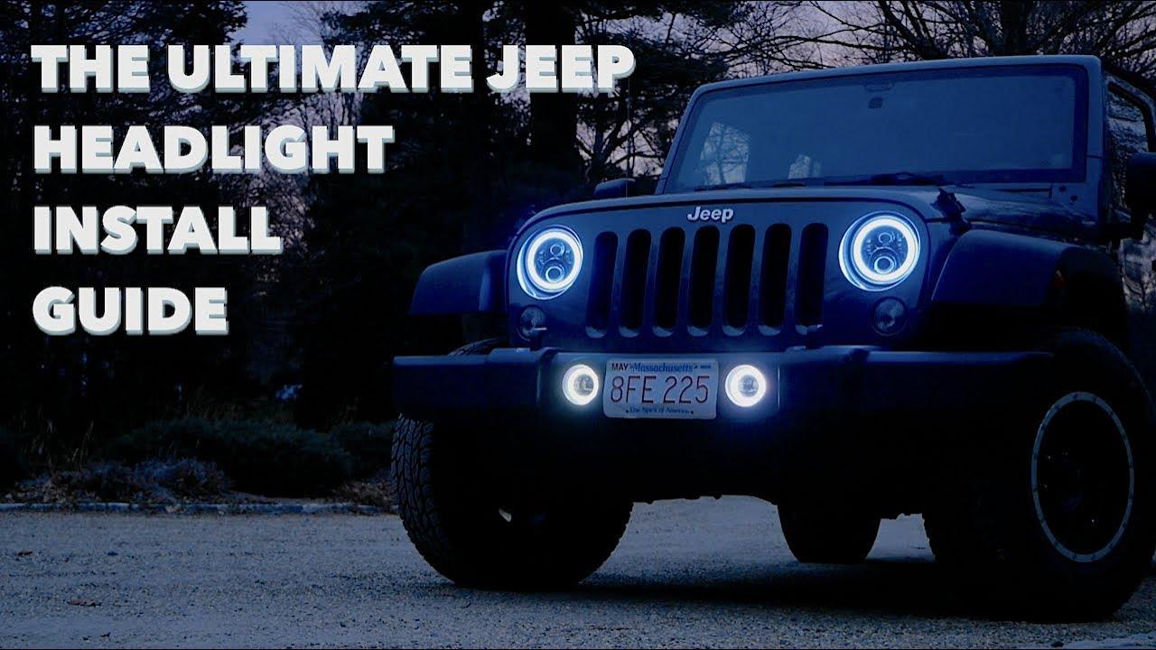 The Ultimate Jeep Headlight Fog Light Install Suparee Rgb