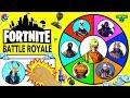 Fortnite Battle Royale SPINNING WHEEL SLIME GAME w/ Moose Fortnite Figures + Surprise Toys