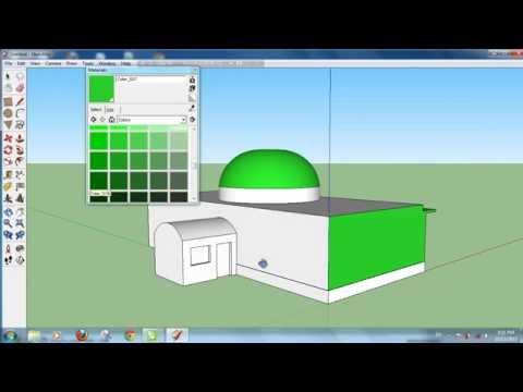 Tutorial Google Sketchup - Cara Membuat Bangunan Masjid Sederhana