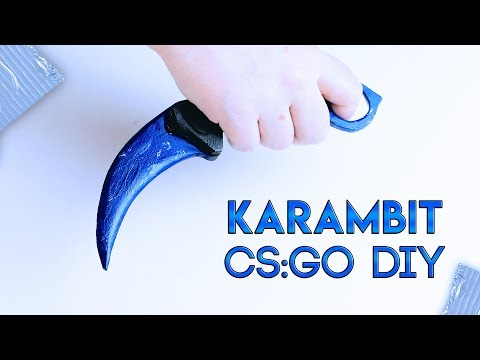 HOW TO MAKE A KARAMBIT (Blue Sapphire) from CS:GO with templates